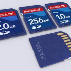 Secure Digital (SD) Card 3D Model