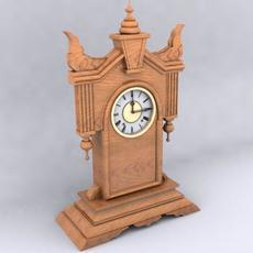 Antique Kitchen Clock 3D Model