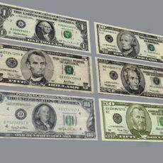 American Currency 3D Model