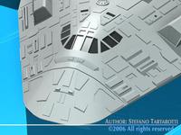 Sci-fi space shuttle 3D Model