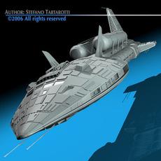 Spaceship 3 3D Model