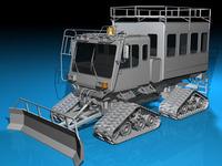 Snowcat passengers 3D Model