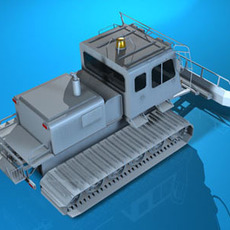 Snowcat with tracks 3D Model