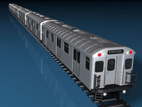 Subway train without interior 3D Model