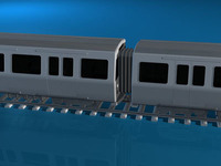 Subway train 2 3D Model
