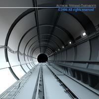 Tunnel subway 3D Model