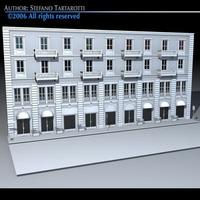 European building front 3D Model