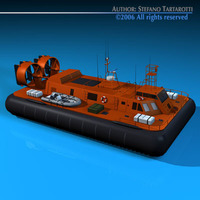 Rescue hovercraft 3D Model