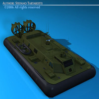 Army hovercraft 3D Model