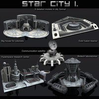 Star city 3D Model
