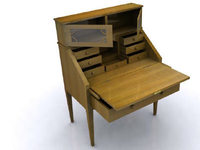 Antique Desk 3D Model