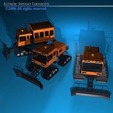 Snowcat collection 3D Model