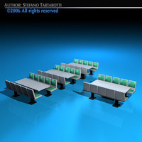 Cafeteria tables 3D Model