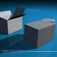 Shipping boxes 3D Model