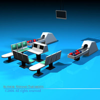 Bowling table 3D Model