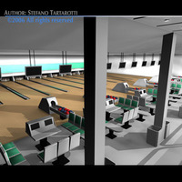 Bowling building 3D Model