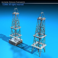 Drilling tower 3D Model