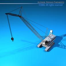 Crane with dipper bucket 3D Model