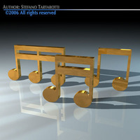 Musical notes 3D Model