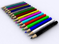 Colored Pencils 3D Model