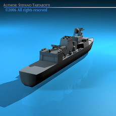 Frigate ship 3D Model