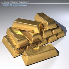 Goldbars 3D Model