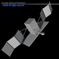 Radar satellite 3D Model