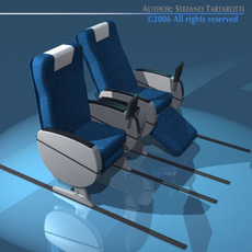 Plane/train seats collection 3D Model