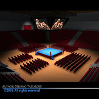 Boxing arena c4d 3D Model