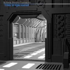 Science-fiction door 3D Model