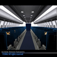 Interior plane 3 3D Model
