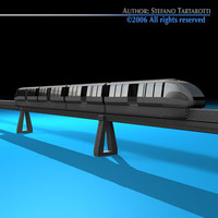 Monorail train 3D Model