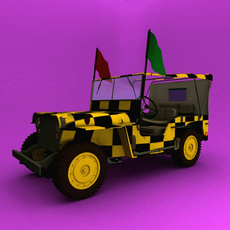 Follow Me Jeep Willys MB 3D Model