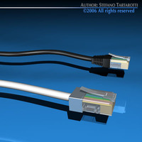 Ethernet plugs 3D Model