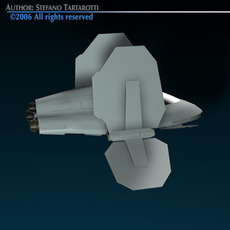 Small Spaceship 3D Model