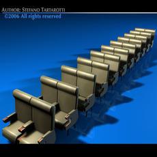 Plane/train seats 2 3D Model