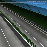 Highway viaduct 3D Model