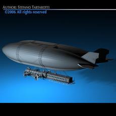 J. Verne flying train 3D Model