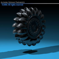 Hydroelectric turbine 3D Model