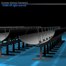 Solar thermodynamic panels 3D Model