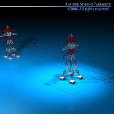 Power tower 3D Model