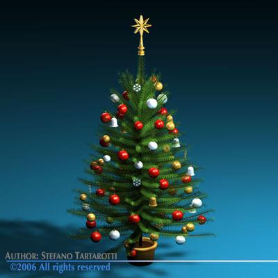 3d Christmas Tree.Christmas Tree 3d Model