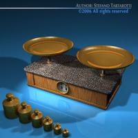 Roberval balance 3D Model
