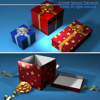Gift boxes collection 3D Model