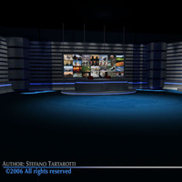 TV news studio 3D Model