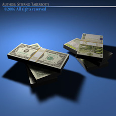 Banknotes 3D Model