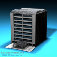 Car parking building 3D Model