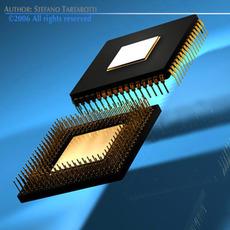 Computer Chip 3D Model