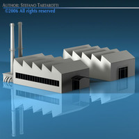 Stilizedcity-factory 3D Model