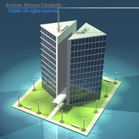 Stilizedcity-triangle building 3D Model